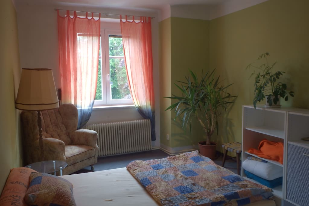 Guest room- this room is for rent. Guests has their own access with keys and complete privacy.
