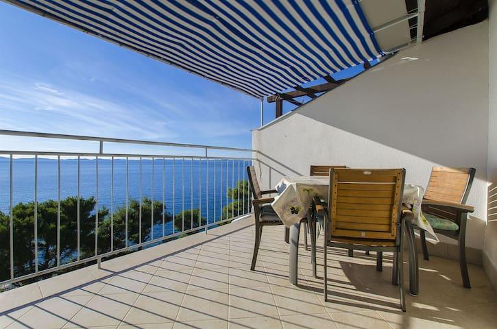Appartamento con una camera da letto, sulla spiaggia, a Murter - isola di Murter, Il terrazzo