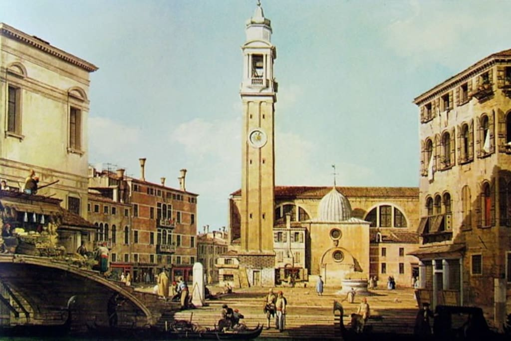 Soranzo Palace from a Canaletto's painting (1730)