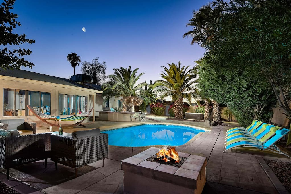 Relax in the backyard that has it all!