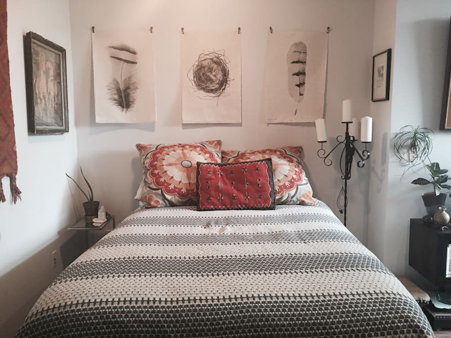 Very comfortable, new bed, real down, natural linens, no chemicals.