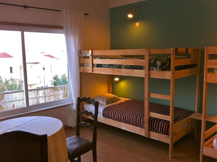 6 Bed shared dorm: near the beach
