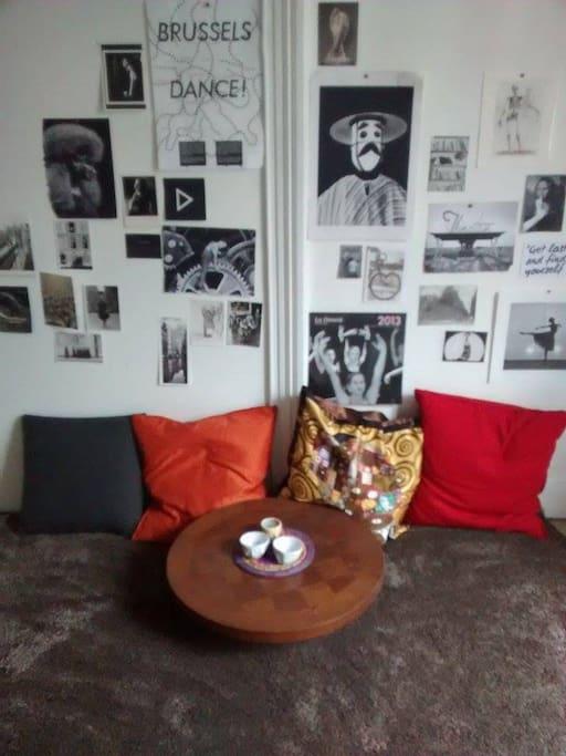 room. Own little floor  living room