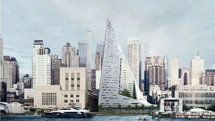 纽约曼岛中城带泳池网红楼超低价出短租!免费shuttle接送地铁站