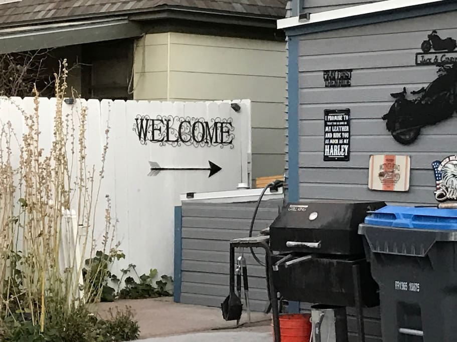 Entrance from backyard to your apartment