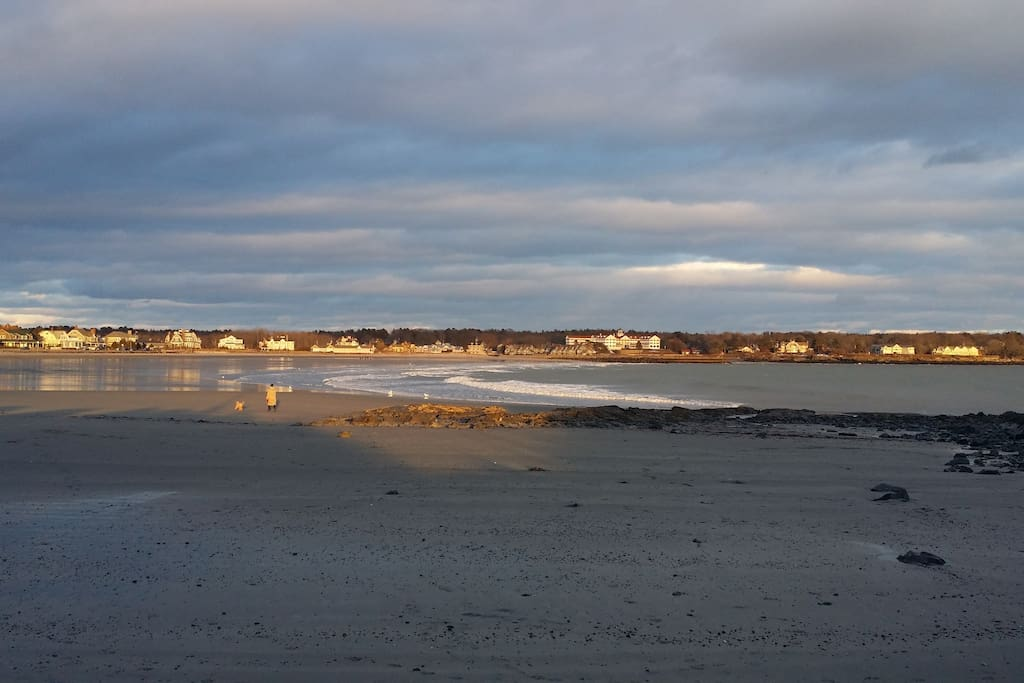"the Kennebunk ""Crescent"" with 3 public beaches, which we give you a pass for"