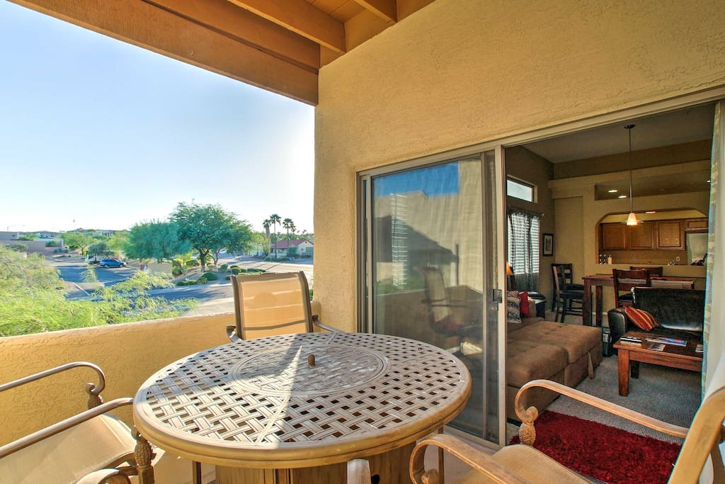 You'll enjoy the scenic views from your private balcony.