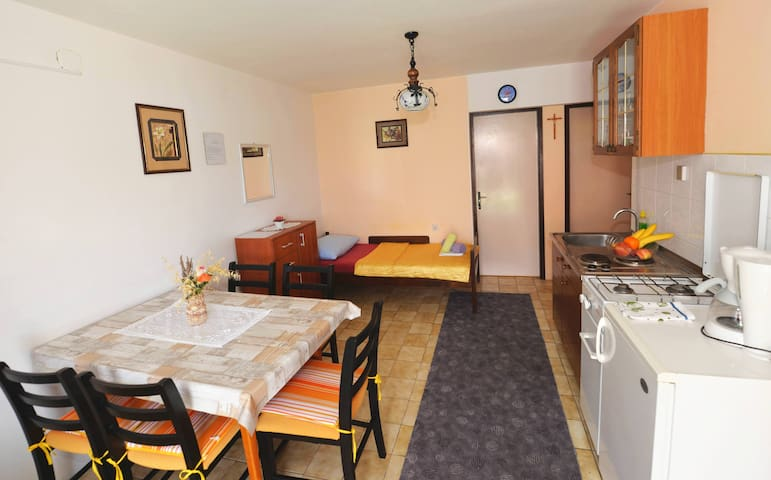Kitchen / Living area / Sleeping area - apartment No. 2 for 5 people