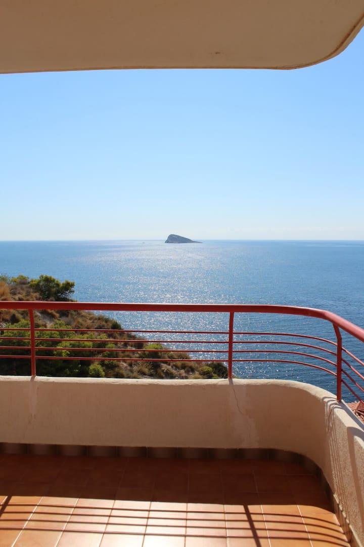 El mar en la terraza. Unas vistas de lujo.