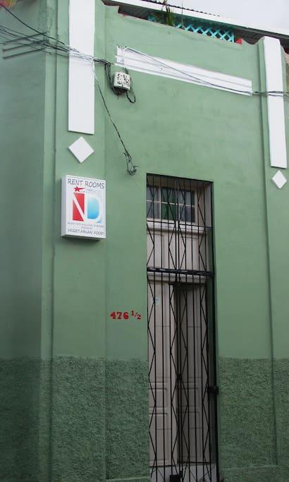 Casa principal de Nelson y Deisy, en el centro de la ciudad de Santiago de Cuba.