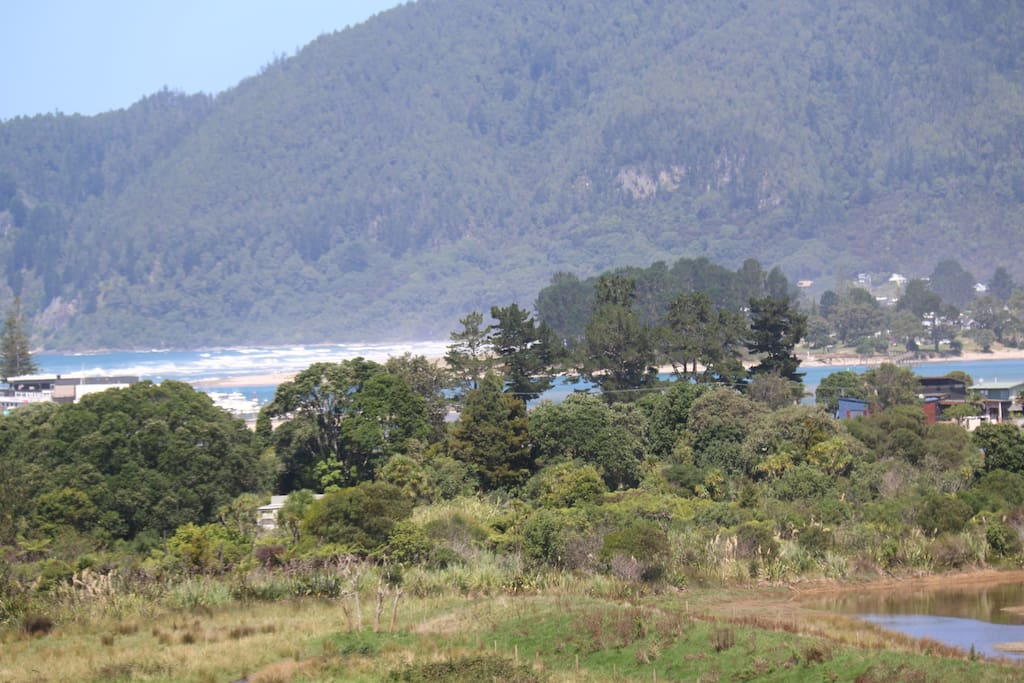 View includes Pauanui Beach