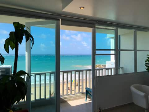 Spacious Beach Apt : 1 Bed Rm + Living Rm +Balcony