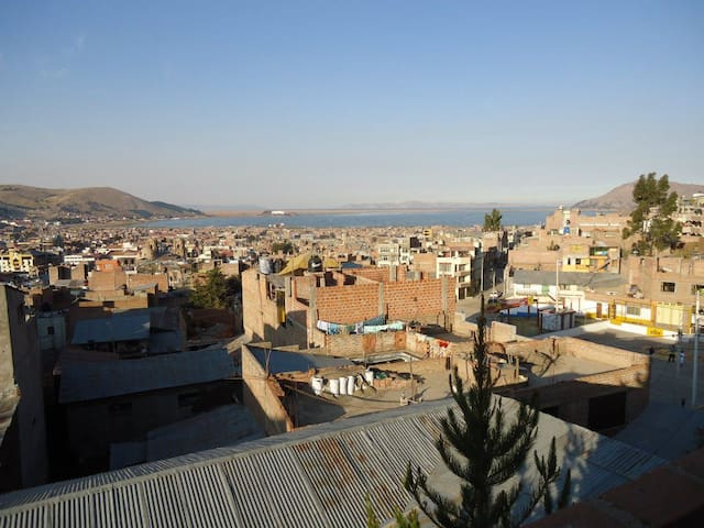 Private Double Room - Panoramic View Lake Titikaka - Puno - Flat