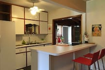 Kitchen with a breakfast counter