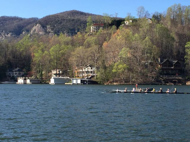Beautiful Two Story Home in Lake Lure on Lakefront