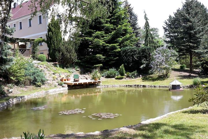 FEWO - idyllische Lage mit Teich u. Pool