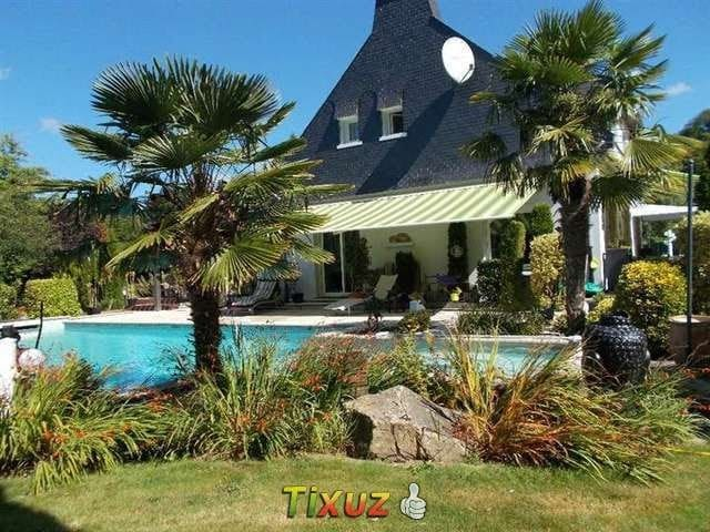 Maison piscine chauffée 12-14 pers bord de rivière