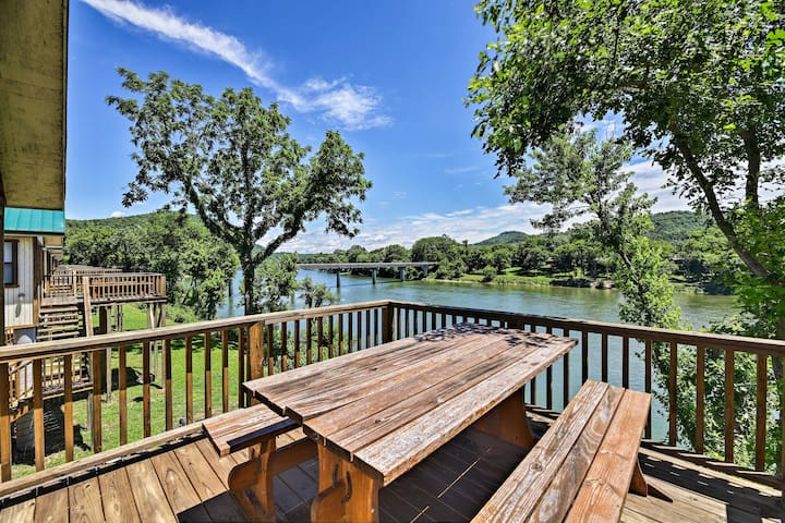 NEW-Waterfront White River Cabin w/Water-View Deck