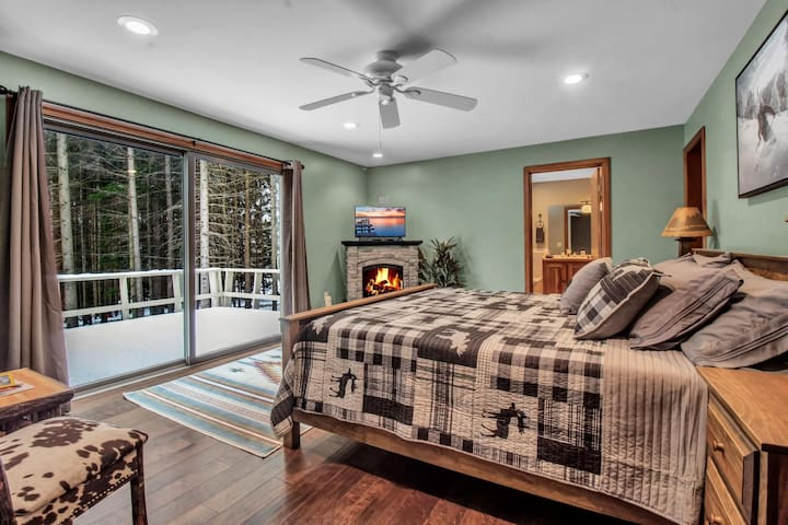 1st Master bedroom with king radiant floor heating