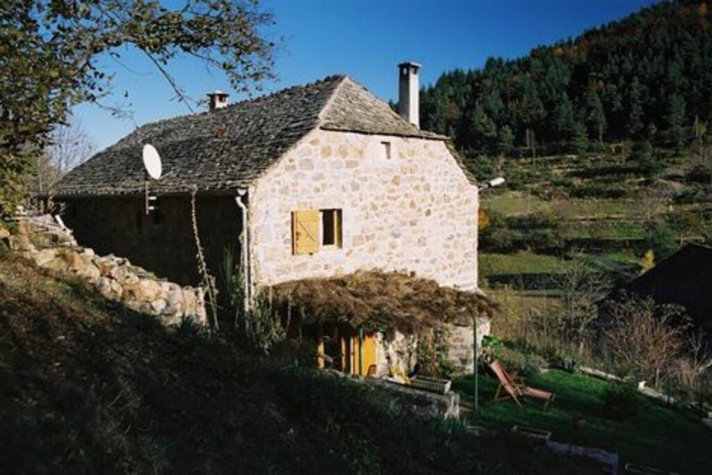 Une terrasse avec coin repas et barbeuk