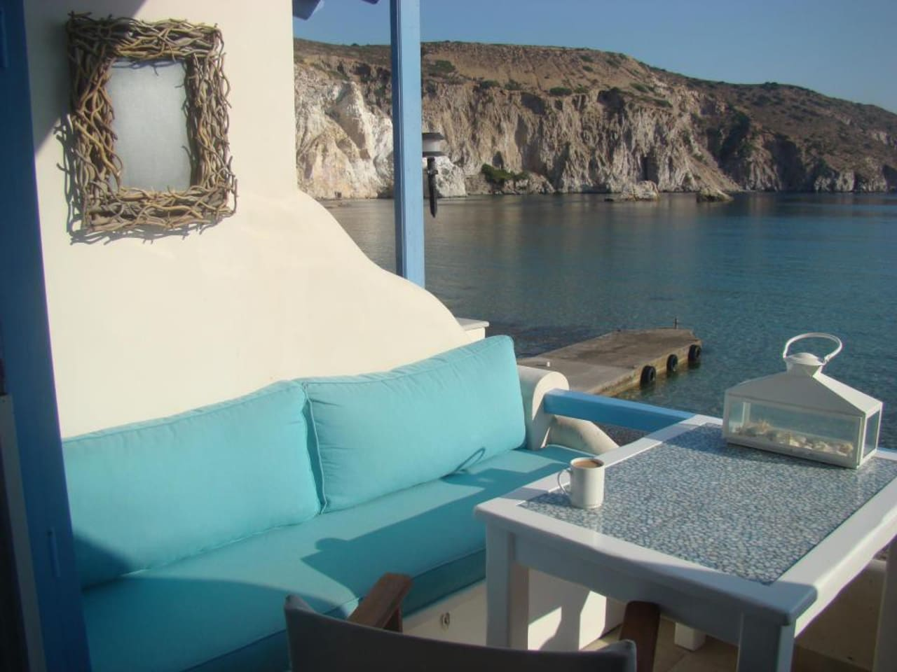 Amazing private beach terrace balcony with sofa and the best sea view ever!