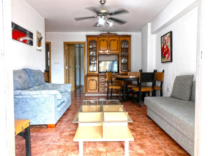 Apartment with 2 bedrooms in Cullera, with wonderful city view and furnished terrace