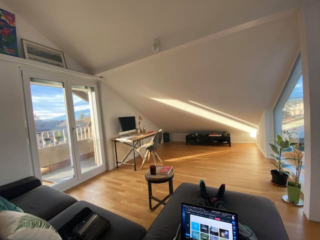 Minimalistic loft in a quaint swiss town