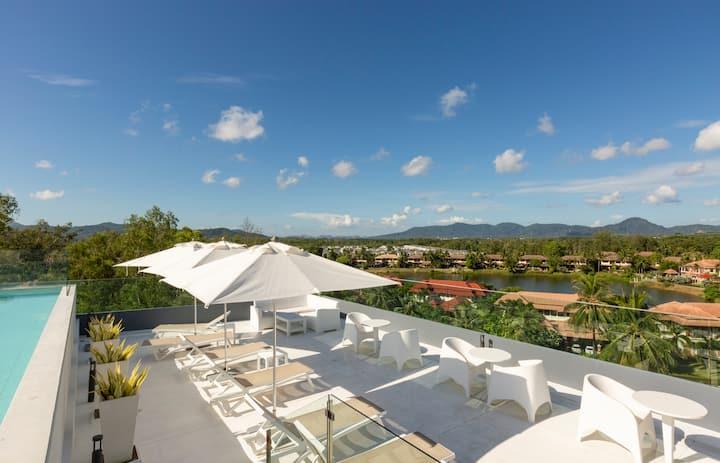 Cozy 1-BR apartments in condo Oceanstone, Laguna. 2 pools ❤️ BangTao (205)