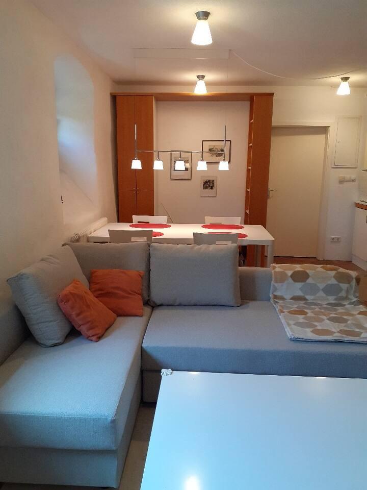 Ferienwohnungen Haus Fuchs, (Reichenau), 2-Zimmer-FeWo, 37qm, 1 Schlafzimmer, 1 Wohnzimmer, max. 4 Personen