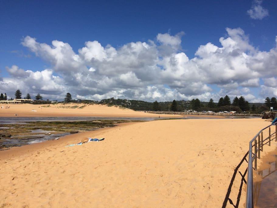 north Narrabeen beach looking toward the lagoon