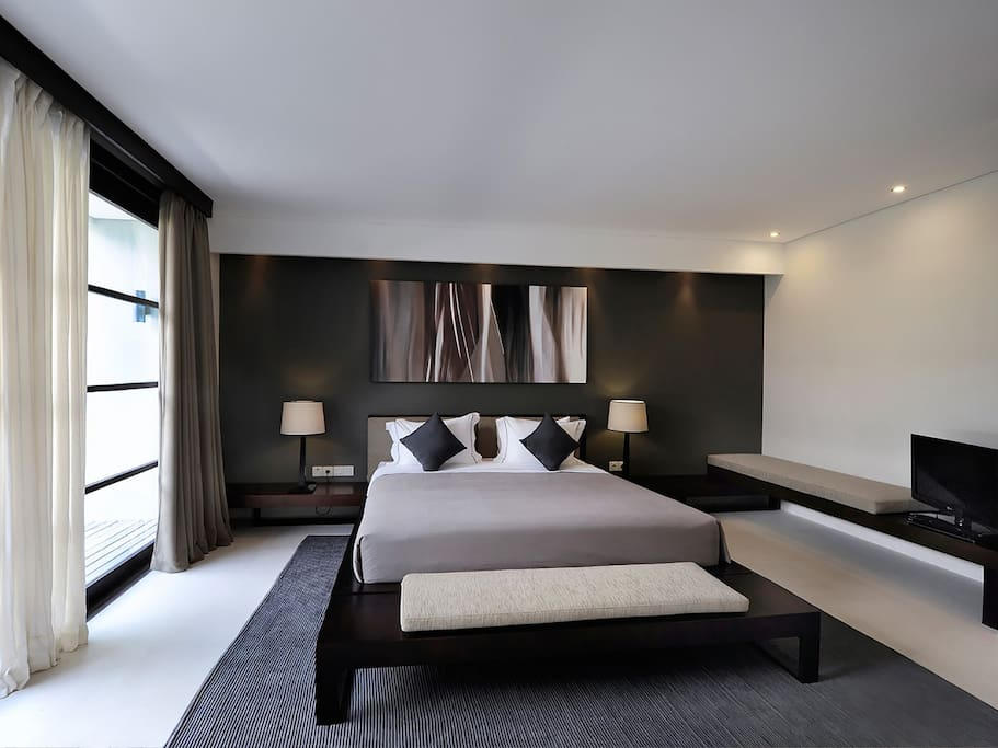Guest bedroom at The Layar Designer Villas and Spa
