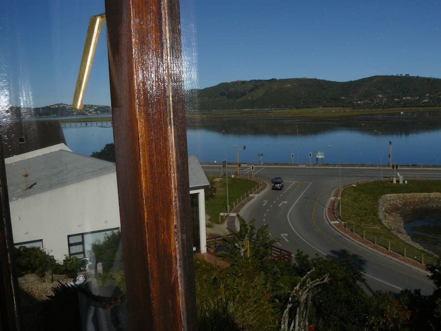 Stunning view from room 2 of the magical Knysna lagoon