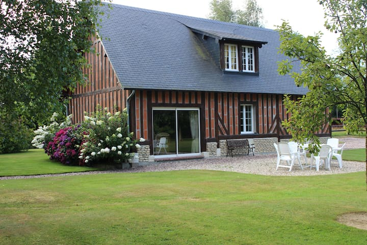 Belle maison normande 4/6 pers 20mns de Deauville - Clarbec - Huis
