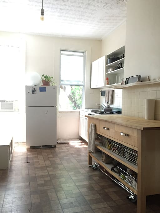 We rearranged our Kitchen but this is how lovely and bright it is in the day.