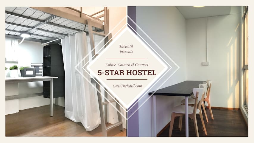 (BEST VALUE)TheKatil 24hr Aircond Wifi Hostel Room