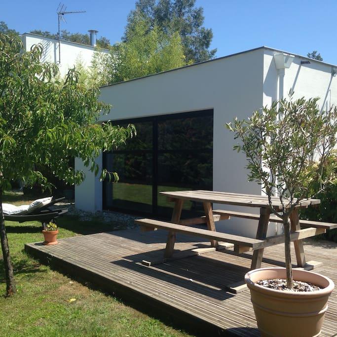 Appart t2 avec jardin et terrasse apartamentos en alquiler en seignosse aquitaine limousin - Terrasse jardin botanique montreal poitiers ...