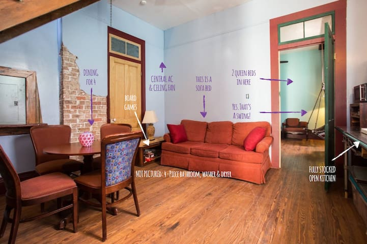 Monthly rental for 2-4 people near French Quarter