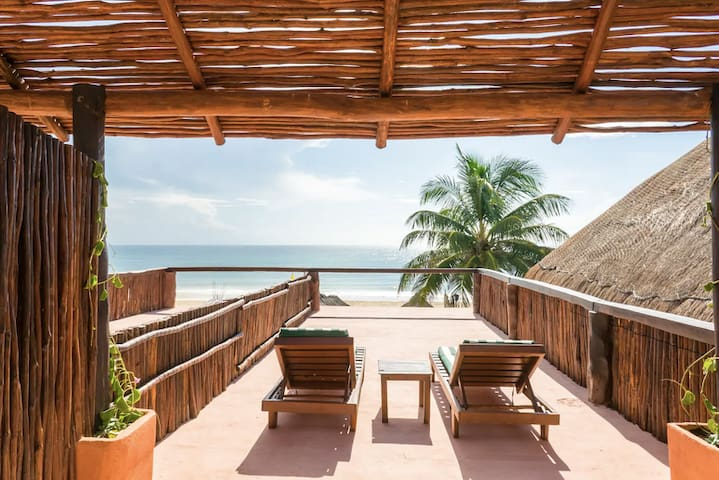 Ocean Front Studio w/shared pool ⭐Best Tulum Beach