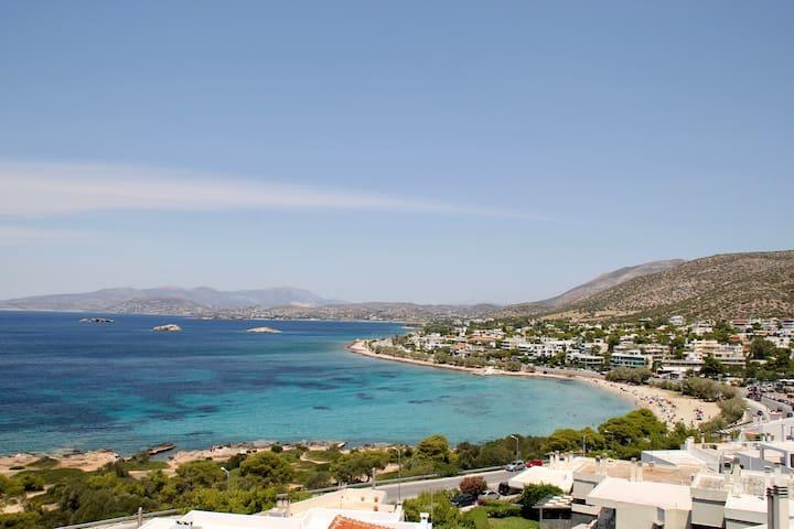 Saronida view from balcony