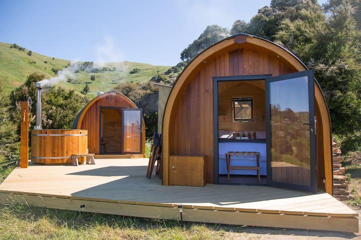 Pod at Te Wepu - intrepid pod retreats