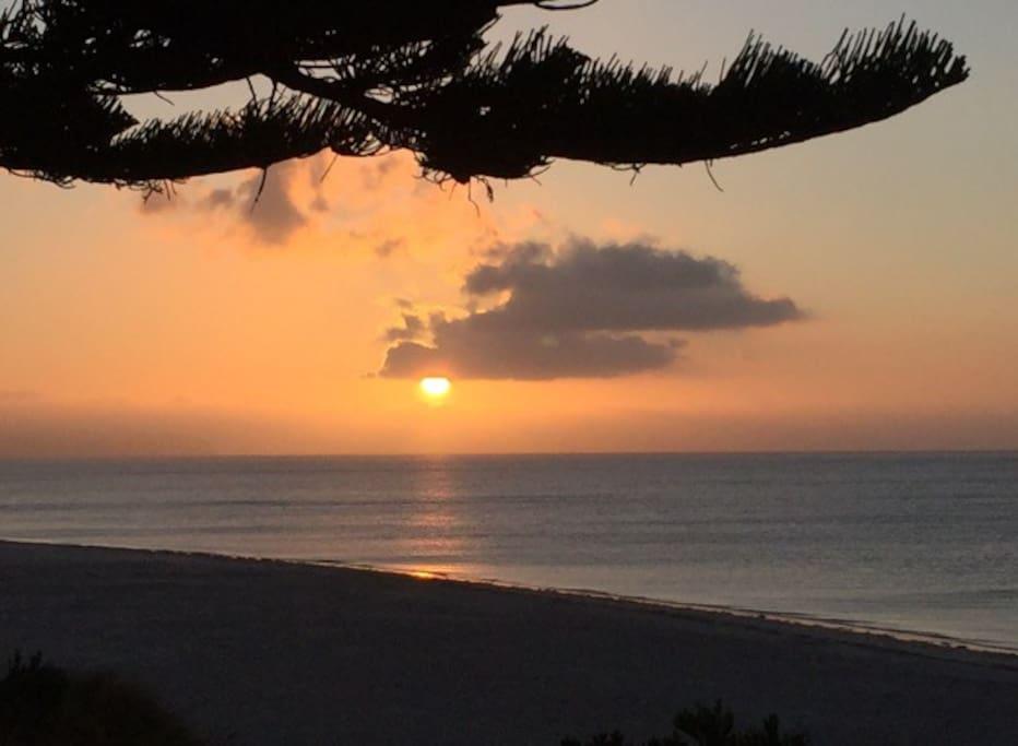 Normanville beach sunset