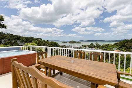 Enjoy the best view in Paihia from the spa - Paihia - Huis