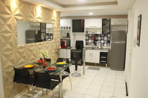Lindo Apartamento 2 qts. À 15 minutos Ponta Negra