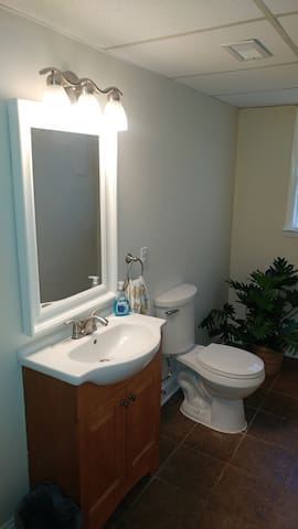 Convenient 1.5 bath on lower level
