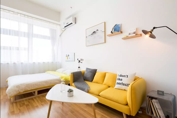 Virgo-投影房4room【YELLOW】复式BRT速达机场火车站景点 - Xiamen - Appartement en résidence