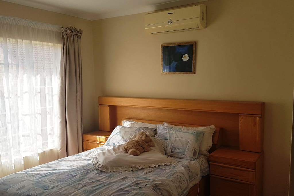 Double Bed and AC