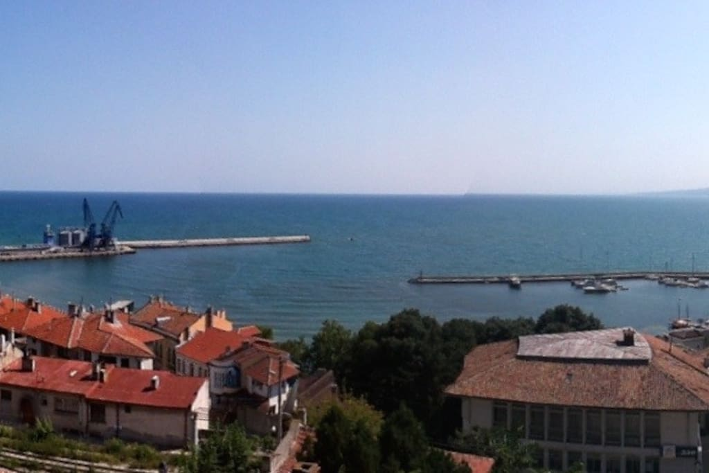 A mid-day panorama view from the  balcony