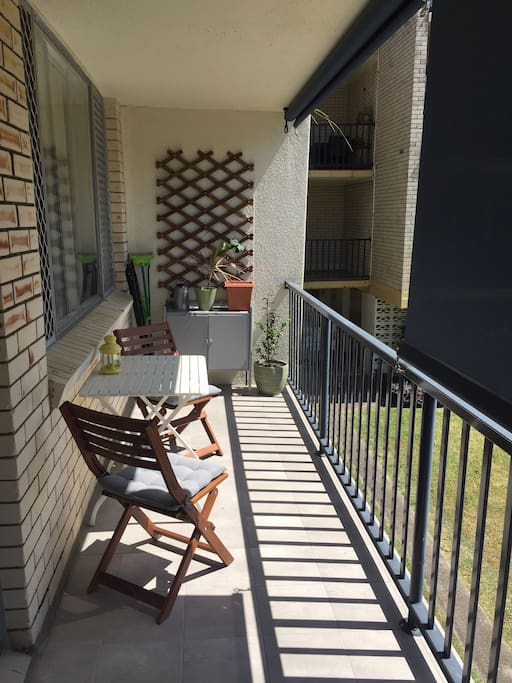The outdoor balcony.