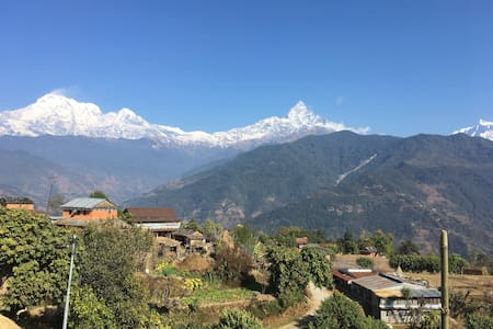 Magnificent view of Annapurna Range and culture!