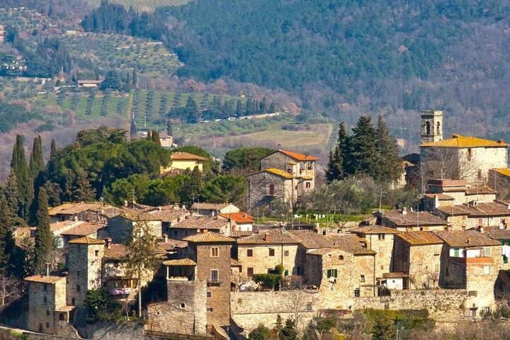 Casa caratteristica nel borgo di Montefioralle